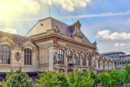 france station: City views of one of the most beautiful cities in the world - Paris. Austerlitz Train Station in Paris.