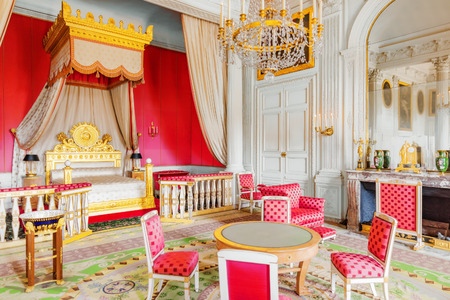 empress: VERSAILLES, FRANCE - JULY 02, 2016 : Chambery(Apartments) of Empress in Grand Trianon. Chateau de Versailles. France.