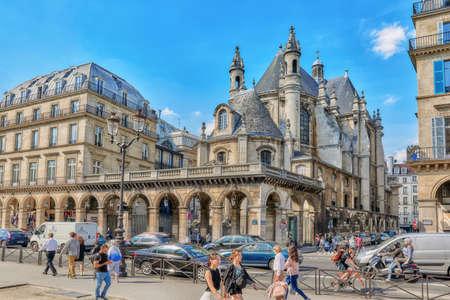 protestant: PARIS, FRANCE - JULY 06, 2016 : Temple Protestant de lOratoire du Louvre, also Eglise Reformee de lOratoire du Louvre, is a historic Protestant church France. Paris.
