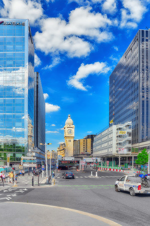 france station: PARIS, FRANCE - JULY 09, 2016 : City views of one of the most beautiful cities in the world - Paris. Station Gare de Lyon is one of the oldest and most beautiful train stations in Paris. Editorial