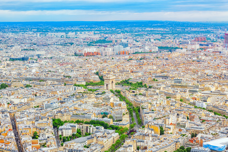 Panorama of Paris view from the Eiffel tower. France.