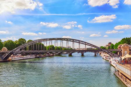 austerlitz: PARIS, FRANCE - JULY 09, 2016 : City views of one of the most beautiful cities in the world - Paris. Austerlitz Bridge.