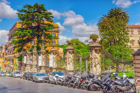 ROME, ITALY- MAY 10, 2017: Barberini Palace (Palazzo Barberini ) .Palazzo Barberini  is a 17th-century palace in Rome, facing the Piazza Barberini in Rione Trevi. It houses the Galleria Nazionale dArte Antica.