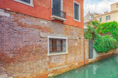 venice: Views of the most beautiful channels of Venice, narrow streets, houses.Italy.