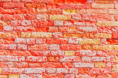 venice: Texture of a brick wall made from an old red bricks Stock Photo