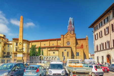 FLORENCIA, ITALIA - 15 DE MAYO DE 2017: Capilla Del SS Sacramento, novela corta de Santa Maria, di Santa Maria Novella de la basílica en Florencia. Italia. Editorial