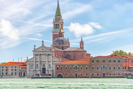 A view of the island of Giudecca, located opposite mail island Venice. San Giorgio Maggiore (Chiesa di San Giorgio Maggiore).Italy. Stock Photo