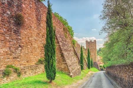 Fortress wall of Fort Belvedere- Forte Belvedere is the second and largest fortress to be built in Florence.It was designed and built by Bernardo Buontalenti. Sajtókép