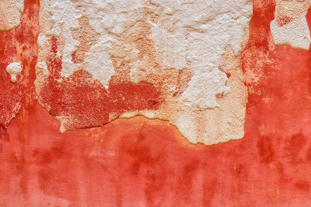 Texture of a medieval old plaster wall in Venice. Italy. Stock Photo