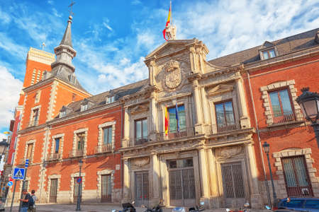 Madrid, Spain- June 04, 2017: Santa Cruz Palace, also as building of Ministry of Foreign Affairs in Santa Cruz Square.