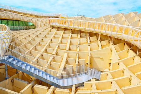 Seville, Spain - June 08,2017: Observation platform Metropol Parasol, locally also known as Las Setas. Spain. Editorial
