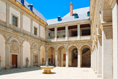 Segovia, Spain - June 07, 2017 : Inside Alcazar of Segovia (literally, Segovia Fortress) is a castle, located in the ancient city Segovia, Spain. Editorial