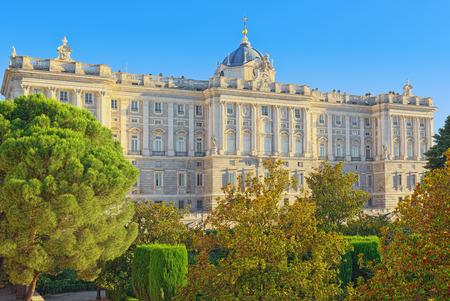 Madrid, Spain - June 06, 2017 :Building of  Royal Palace in Madrid (Palacio Real de Madrid), Spain.