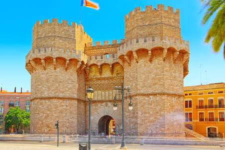 Serrans Gate or Serrans Towers (Torres de Serranos, Porta de Serrans) is one of the twelve gates that formed part of the ancient city wall,of the city of Valencia.
