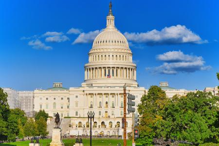 Washington, DC, USA -September 10, 2017 : United States Capitol, Capitol Building,home of the United States Congress andUlysses S. Grant Memorial.