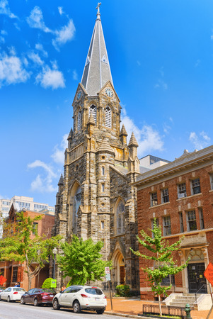 Washington, DC, USA - September 10,2017 : St Mary Mother of God Catholic Church. Downtown district,
