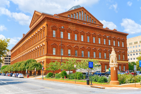 Washington, DC, USA - September 10,2017 : Pension Building, now the National Building Museum. Downtown district.