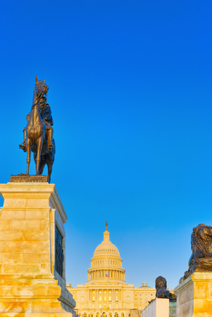 United States Capitol, Capitol Building,home of the United States Congress and Ulysses S. Grant Memorial.