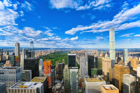 Uitzicht op Manhattan vanaf het observatiedek van de wolkenkrabber. New York. VERENIGDE STATEN VAN AMERIKA. Stockfoto