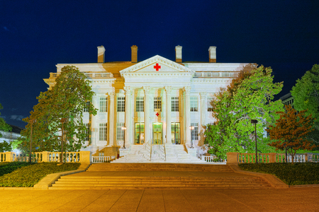 Urban cityscape of Washington, DC. American Red Cross Headquarters. United States of America.