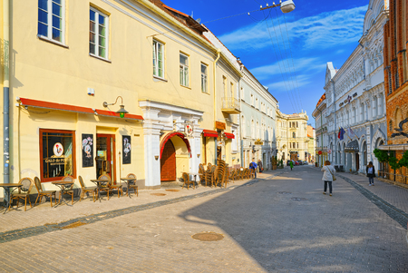 Vilnius, Lithuania - June 17, 2015: Gates of Dawn is a street in the historic part of the old city of Vilnus. Lithuania.