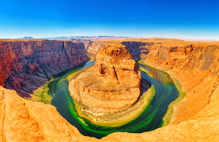 Horseshoe Bend is a horseshoe-shaped incised meander of the Colorado River located near the town of Page, Arizona.
