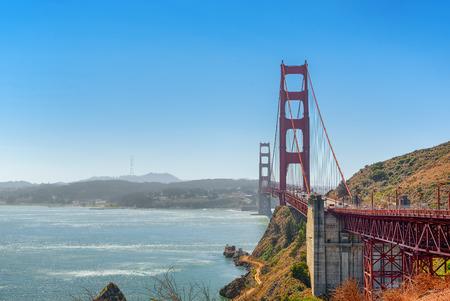 Panorama on San Francisco and the Gold Gate Bridge. California, USA. 免版税图像