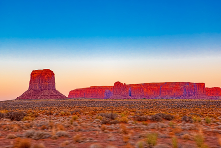 View of Monument Valley in Utah, is a region of the Colorado Plateau. USA.