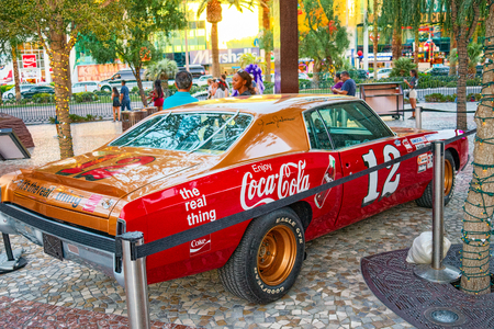 Las Vegas, Nevada, USA - September 15, 2018: Main street of Las Vegas is the Strip.