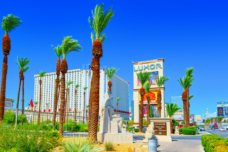 Las Vegas, Nevada, USA - September 16, 2018: Main street of Las Vegas is the Strip. Casino, hotel and resort Luxor.