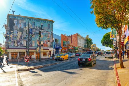 San Francisco, Kalifornien, USA - 08. September 2018: Blick auf die Stadt eine Hafenstadt in Westkalifornien, auf einer Halbinsel zwischen dem Pazifischen Ozean und der Bucht von San Francisco.