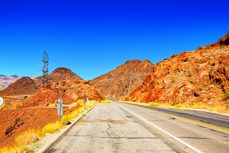 Beautiful scenic views of the state of Nevada. USA. 스톡 콘텐츠