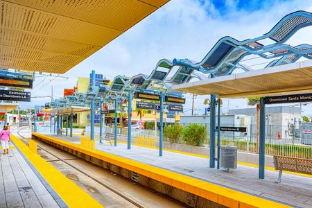 Santa Monica, California, USA - September 05, 2018: Railway station Santa Monica, a suburb of Los Angeles.