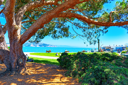 Sausalito, California, USA - September 10, 2018 : Sausalito is a city in Marin County, California, 4 miles north of San Francisco. Redakční