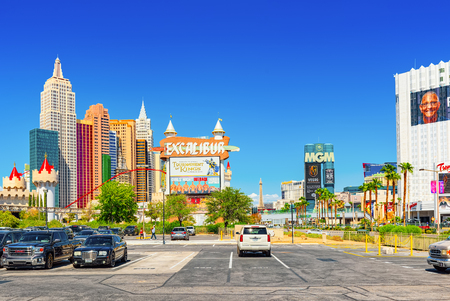 Las Vegas, Nevada, USA - September 16, 2018: Main street of Las Vegas is the Strip. Casino, hotel and resort New York.