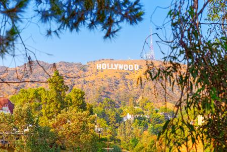 Los Angelos, California, USA - September 05, 2018: Inscription Hollywood on the Hollywood Hills in Los Angeles. Sajtókép