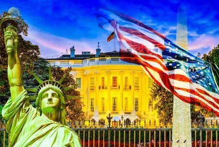 The White House at evening time. Washington, United States of America.