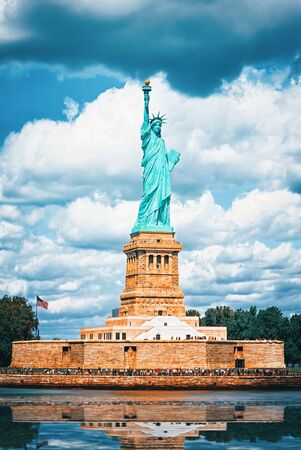 Statue of Liberty (Liberty Enlightening the world) near New York and Manhattan. USA. Stockfoto - 133035491
