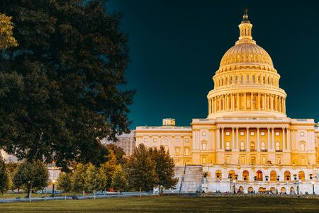 United States Capitol, Capitol Building,home of the United States Congress.Night time.