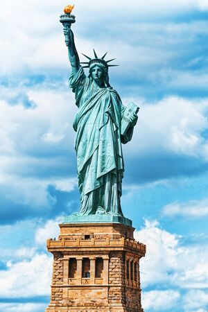 Statue of Liberty (Liberty Enlightening the world) near New York and Manhattan. USA. Stockfoto - 133035505