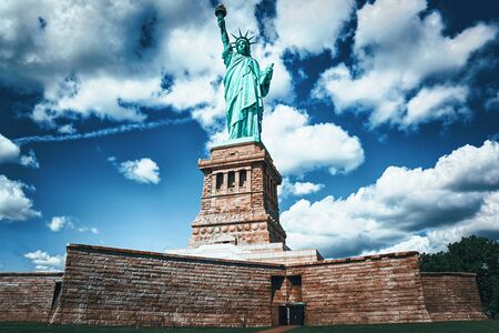 Statue of Liberty (Liberty Enlightening the world) near New York and Manhattan. USA. Stockfoto - 133035733