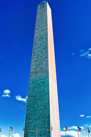 Washington Monument is an obelisk on the National Mall in Washington, D.C., built to commemorate George Washington.