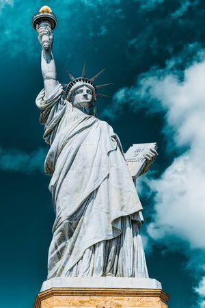 Statue of Liberty (Liberty Enlightening the world) near New York and Manhattan. USA.