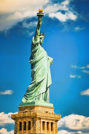 Statue of Liberty (Liberty Enlightening the world) near New York and Manhattan. USA. Stockfoto - 133035800