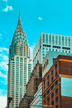 Chrysler Building is an Art Deco skyscraper in Midtown Manhattan, New York City. USA.