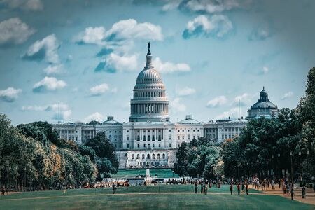 United States Capitol, often called the Capitol Building,home of the United States Congress, seat of the legislative branch of the U.S. federal government. Foto de archivo