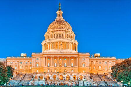 United States Capitol, Capitol Building,home of the United States Congress, legislative branch of the U.S. federal government. Foto de archivo