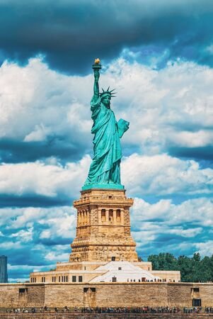 Statue of Liberty (Liberty Enlightening the world) near New York and Manhattan. USA. Stockfoto - 133035848