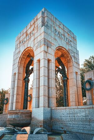 Washington Monument  to World War II Memorial on National Mall.