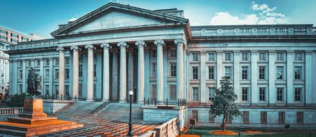 Washington, DC, USA - September 09,2017 : Facade US Treasury Department and Inspector General Office.